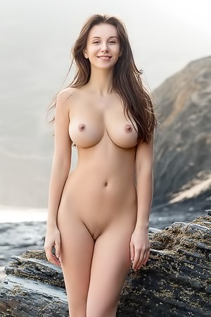 Busty Brunette Model Alisa I